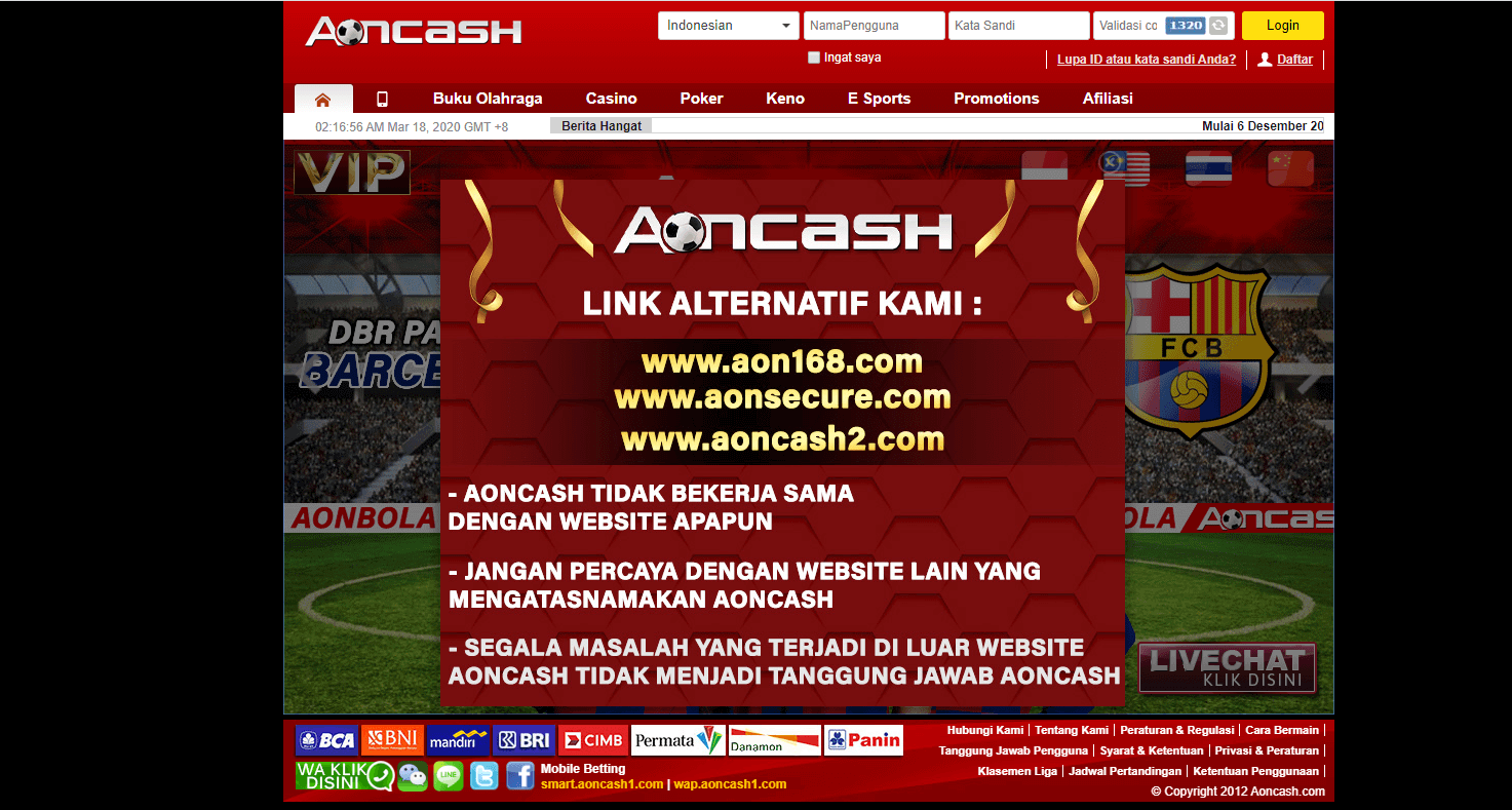 Link alternatif Aoncash