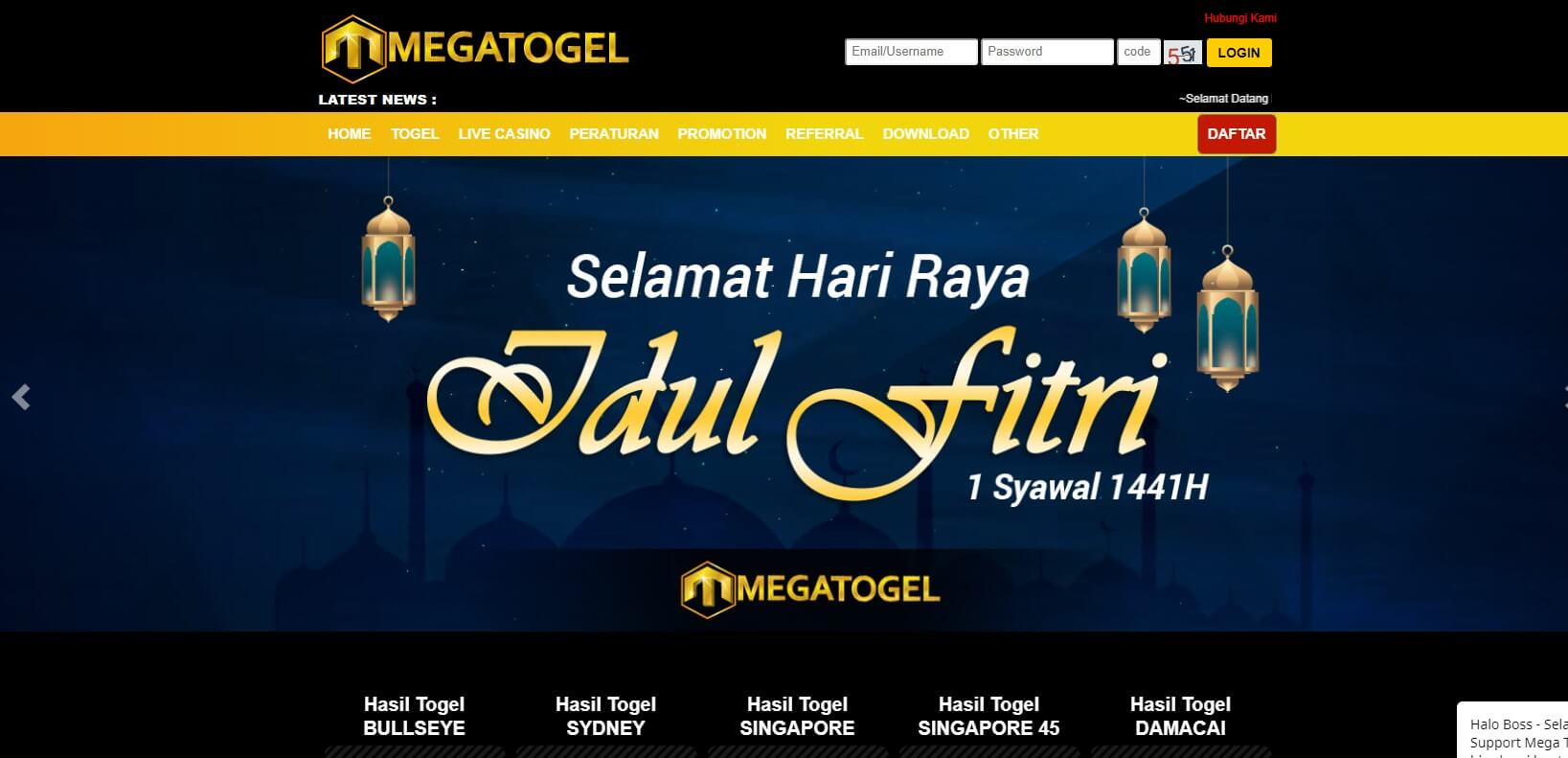 Link alternatif megatogel